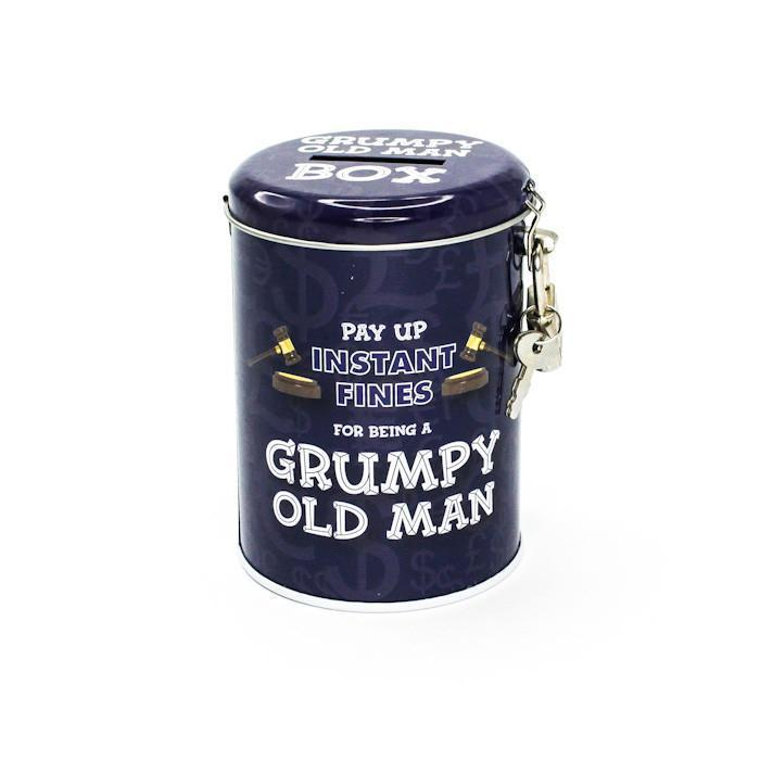 Smuttiness Fines Money Tin - Grumpy Old Man - Boxer Gifts - Yellow Octopus