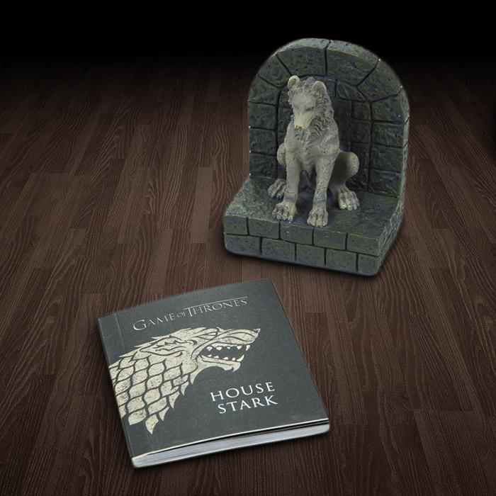 Brumby Sunstate Game of Thrones Direwolf Paperweight & Mini-Book