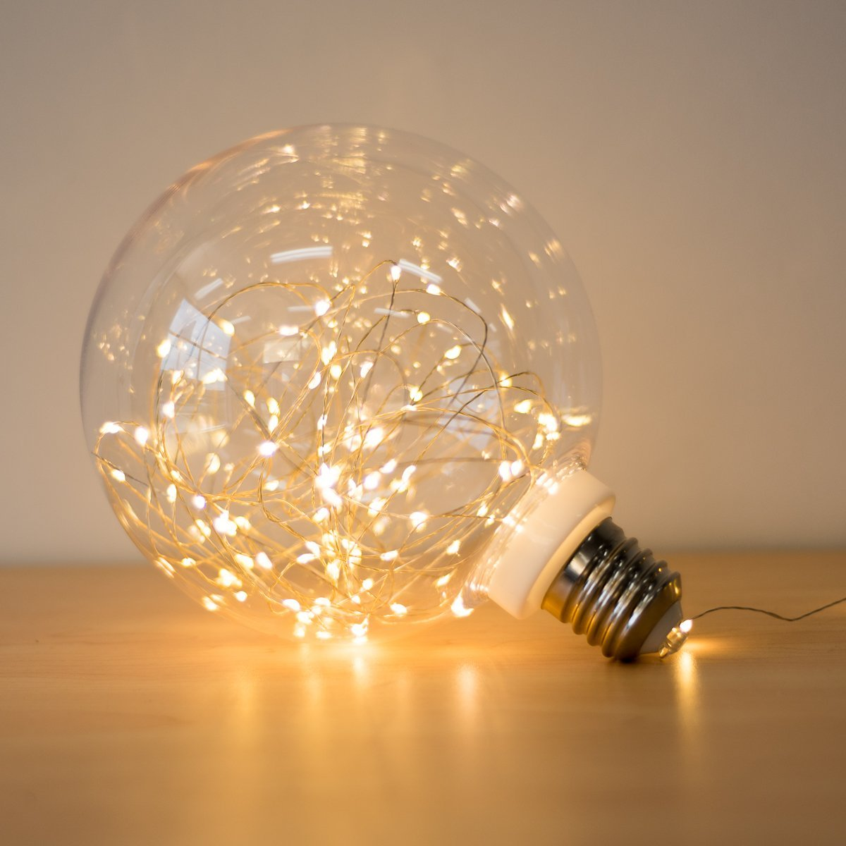 Large LED Light Bulb Globe USB String Lights