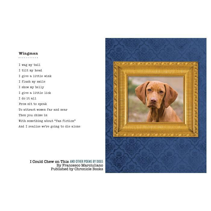 'I Could Chew On This' Dog Poetry Book - - Chronicle Books - Yellow Octopus