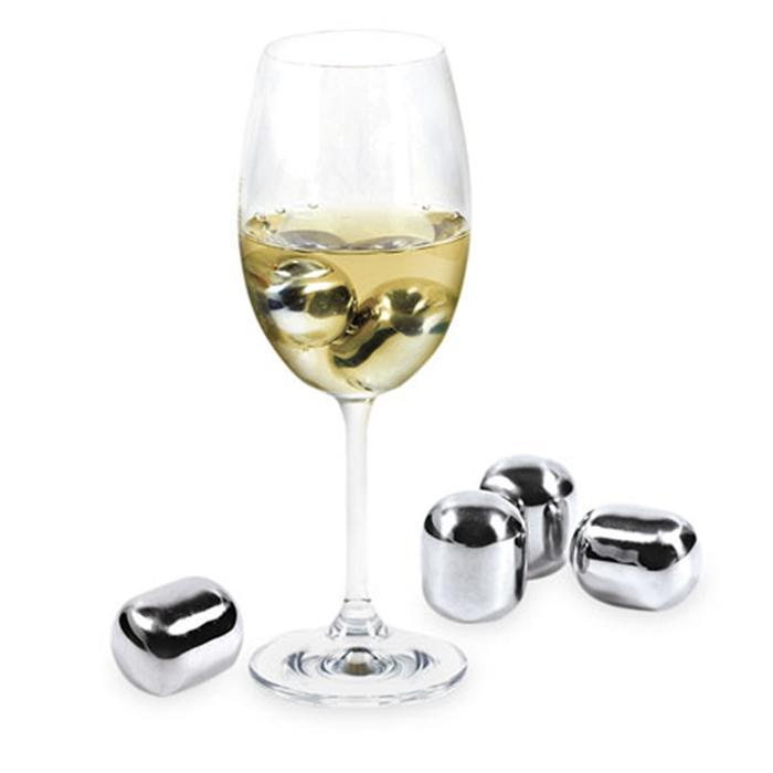 Stainless Steel Wine Chiller Pearls - - Contento - Yellow Octopus