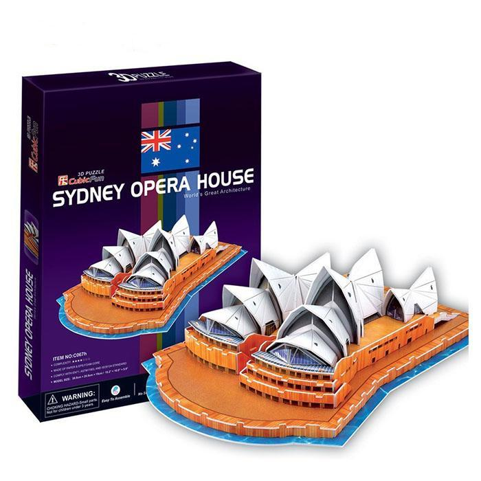 Cubic Fun 3D Puzzle Sydney Opera House 58pcs - - Cubic Fun - Yellow Octopus