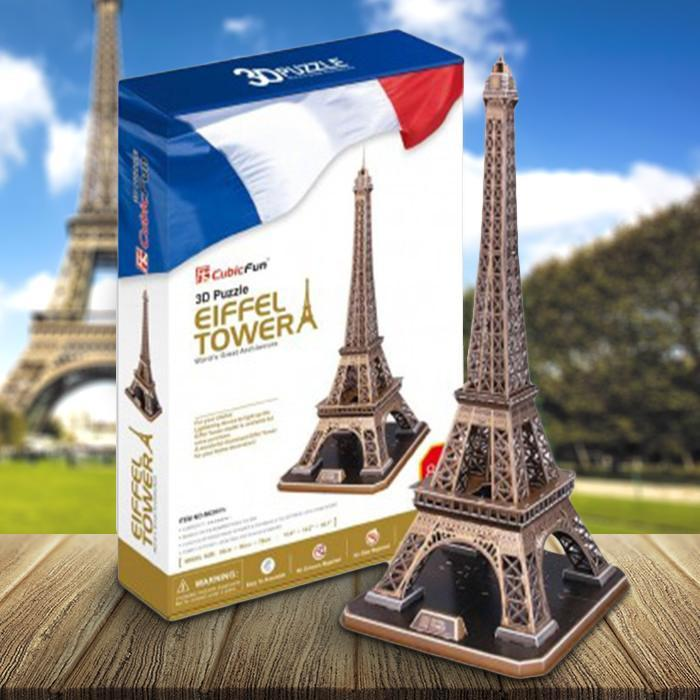 Eiffel Tower DIY 3D Puzzle 82pcs - - Cubic Fun - Yellow Octopus