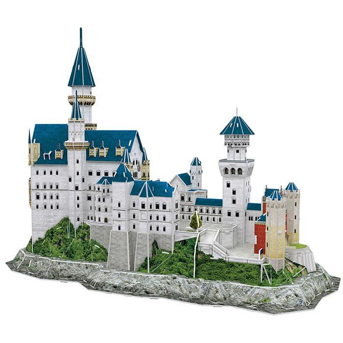Neuschwanstein Castle 3D Puzzle 121pcs - - Cubic Fun - Yellow Octopus