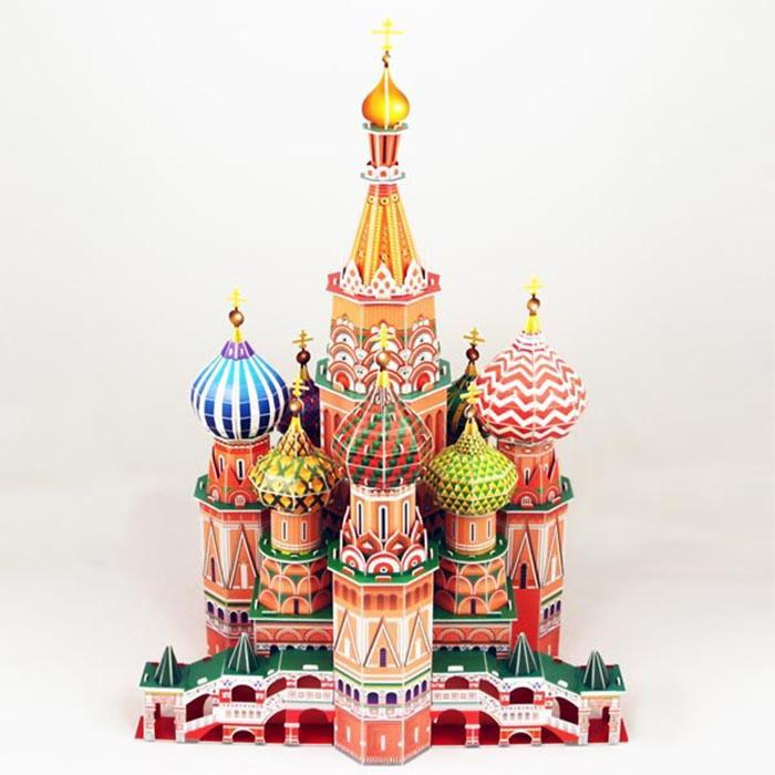 St. Basil's Cathedral 3D Puzzle 214pcs - - Cubic Fun - Yellow Octopus