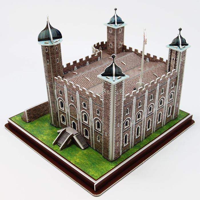 Tower Of London 3D Puzzle 40pcs - - Cubic Fun - Yellow Octopus