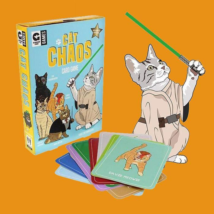 Curated Crazy Cat Chaos Card Game