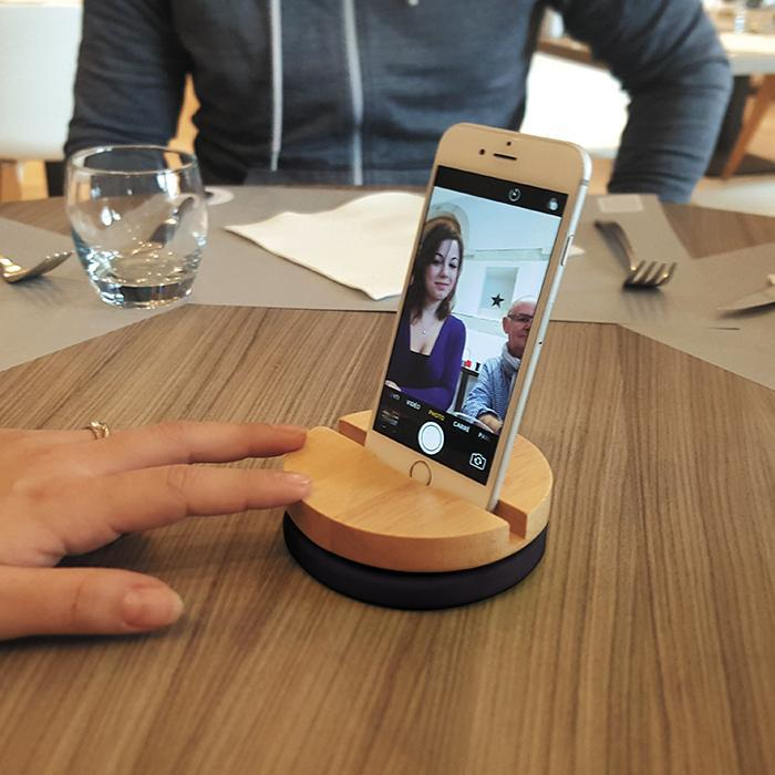 Curated Table Selfie 360° Rotating Phone Stand