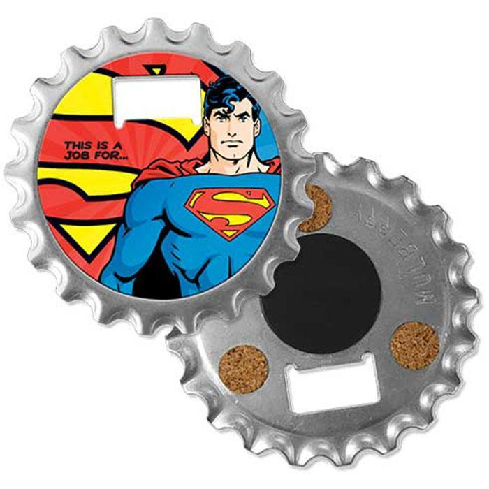 DC Comics DC Comics Batman or Superman 3-in-1 Fridge Magnet Bottle Opener Superman