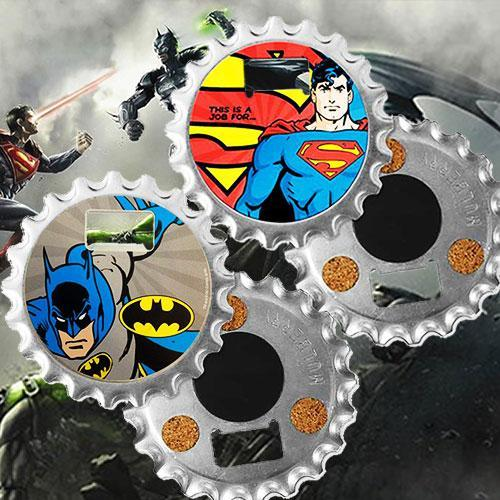 DC Comics DC Comics Batman or Superman 3-in-1 Fridge Magnet Bottle Opener