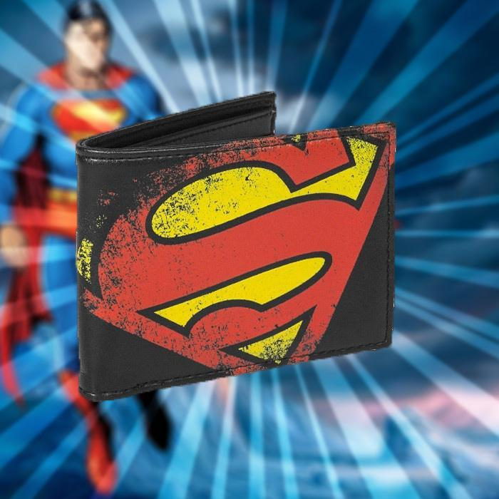 DC Comics Superman Logo Wallet - - DC Comics - Yellow Octopus