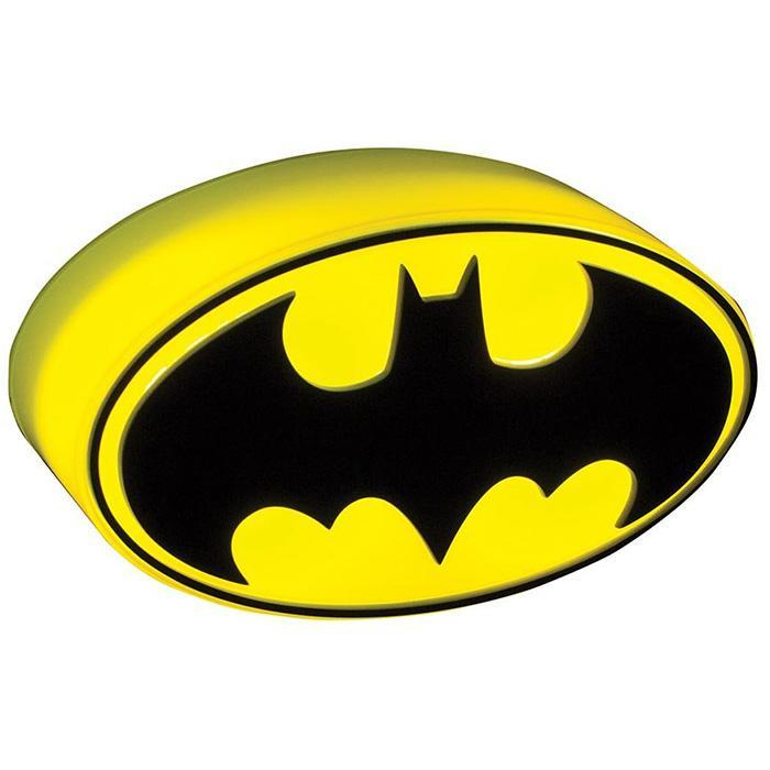 Mini Batman 3D Logo Light - - DC Comics - Yellow Octopus