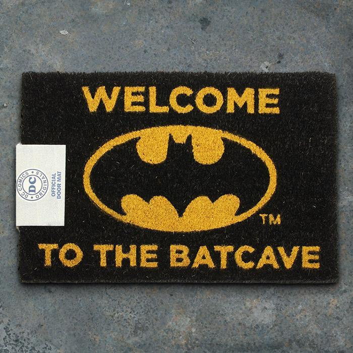 Official Batman Welcome To The Batcave Door Mat - - DC Comics - Yellow Octopus