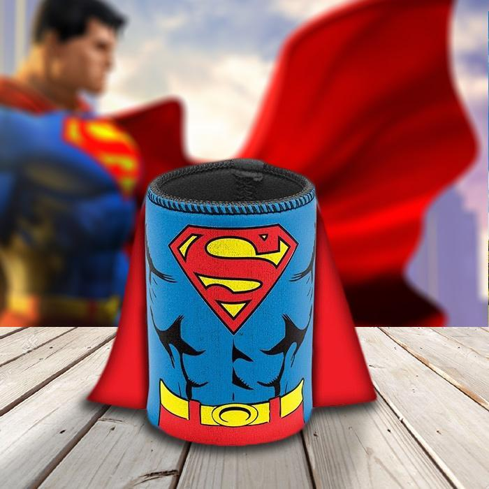 Superman Caped Stubby Holder - - DC Comics - Yellow Octopus