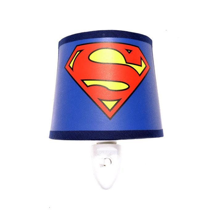 Superman LED Wall Night Light - - DC Comics - Yellow Octopus