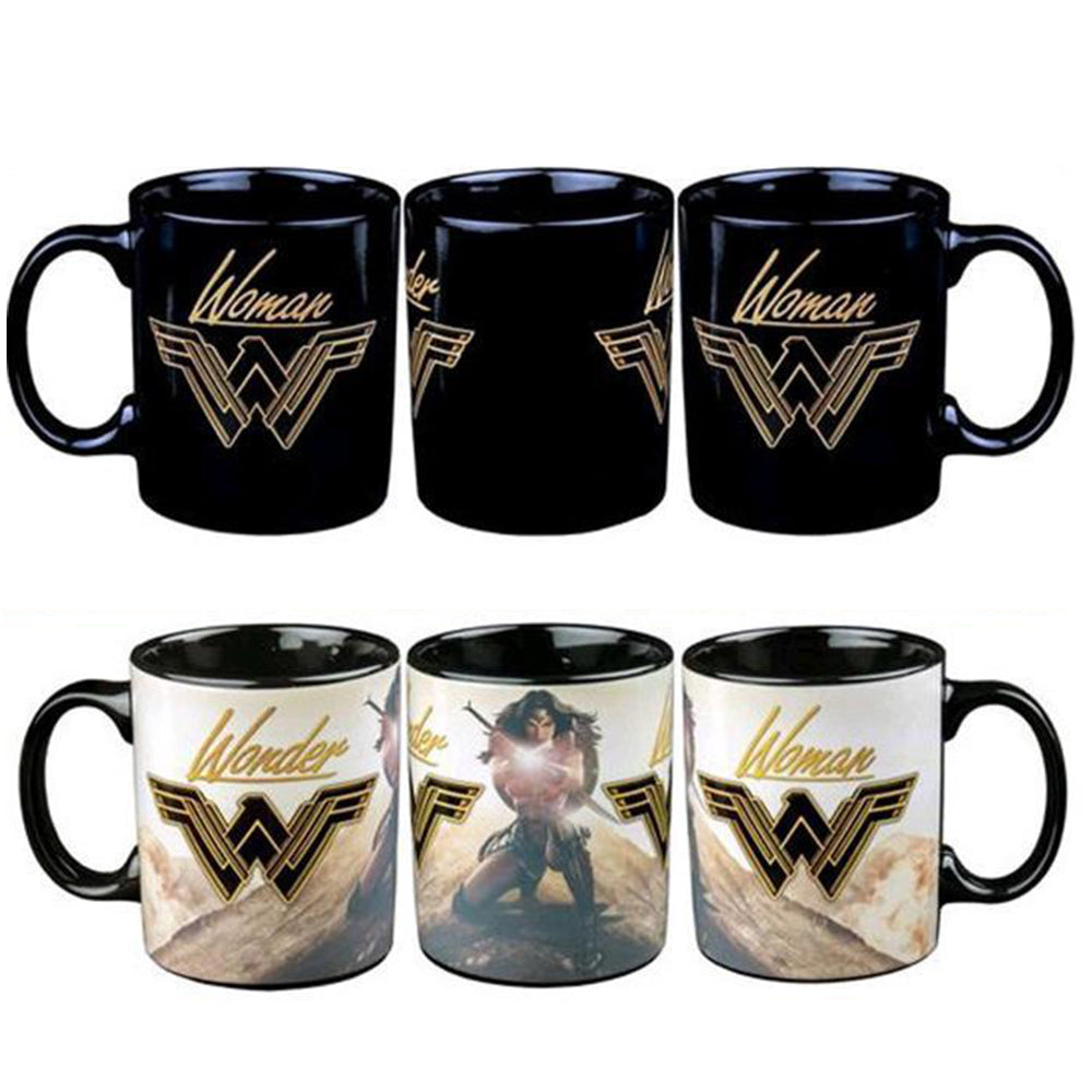 Wonder Woman On a Mountain Top Heat Change Mug