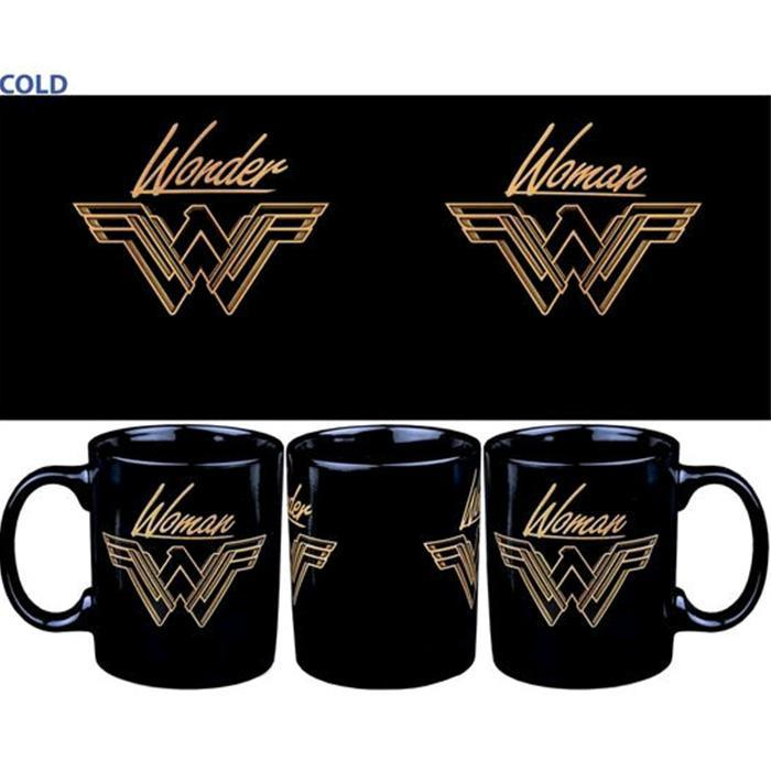 Wonder Woman On a Mountain Top Heat Change Mug - - DC Comics - Yellow Octopus