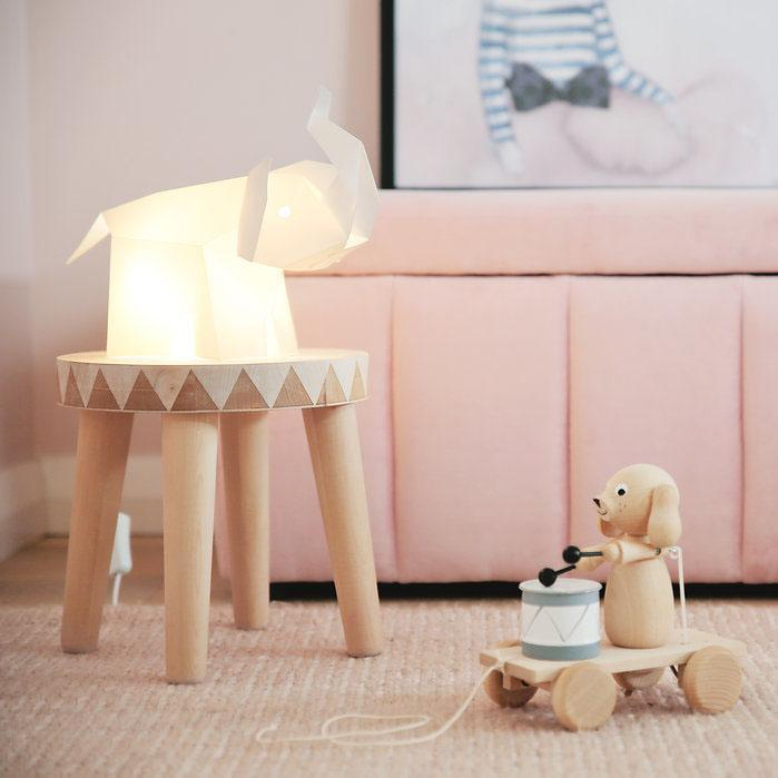 Designer Geometric Elephant LED Table Lamp - - Lumi Co - Yellow Octopus