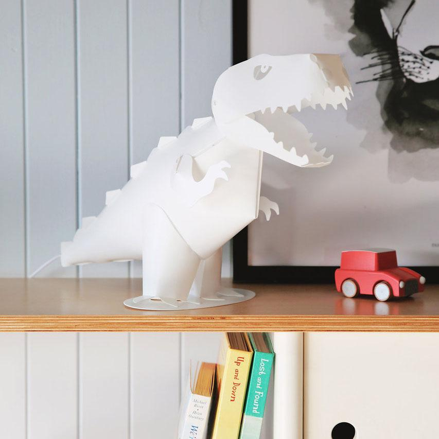 Designer T-Rex Dinosaur LED Lamp - - Lumi Co - Yellow Octopus