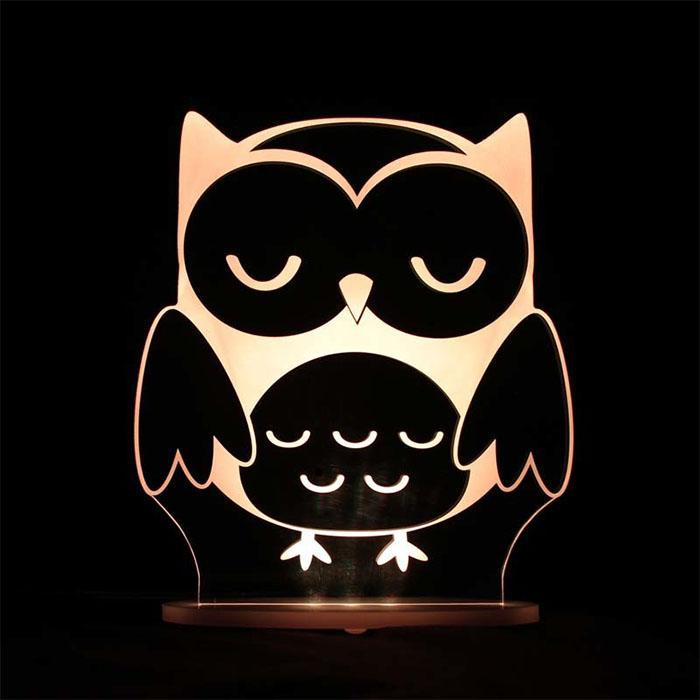Remote Controlled Animal LED Kids Night Lamp - Owl - Delight Decor - Yellow Octopus