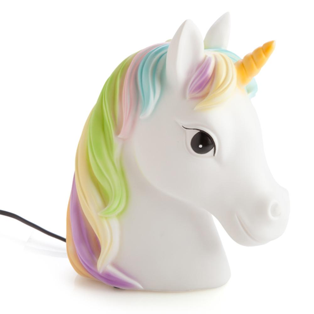 Rainbow Unicorn Night Light Lamp Mains Powered Led