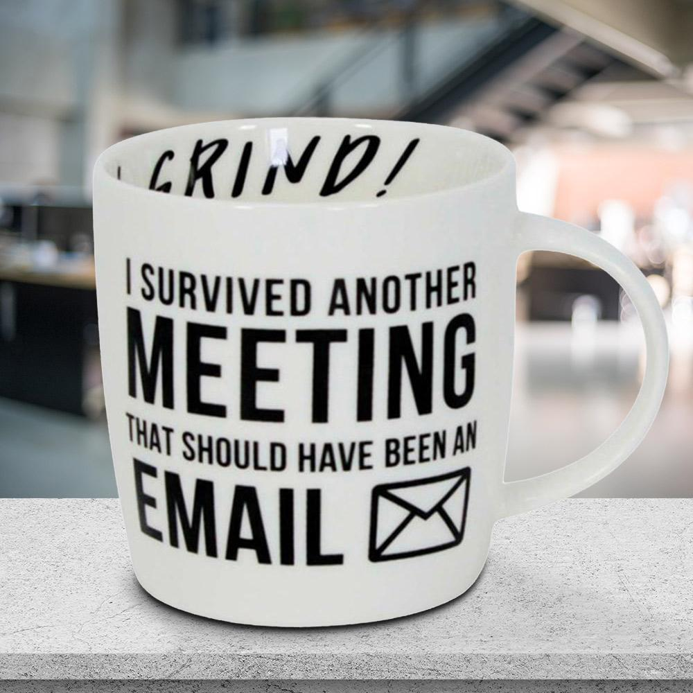 I Survived Another Meeting Office Mug