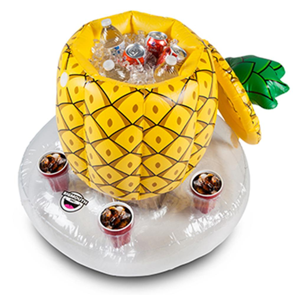 Pineapple Inflatable Floating Bar Drinks Cooler & Holder - - Big Mouth Inc - Yellow Octopus