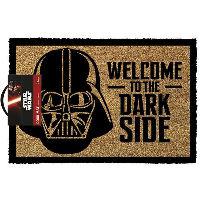 Official Star Wars 'Welcome To The Dark Side' Door Mat - - Disney - Yellow Octopus