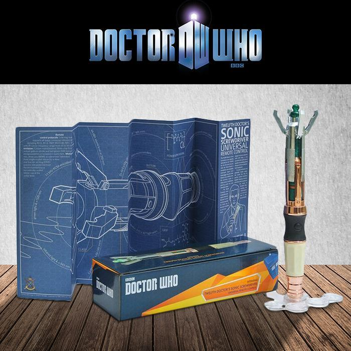 Doctor Who 12th Sonic Screwdriver Universal TV Remote Control - - Doctor Who - Yellow Octopus