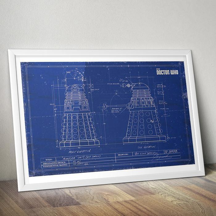 Doctor Who Doctor Who Dalek Blueprint Poster 91 x 61cm