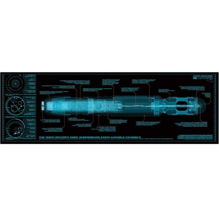 Doctor Who Sonic Screwdriver X-Ray Poster 30 x 91cm - - Doctor Who - Yellow Octopus