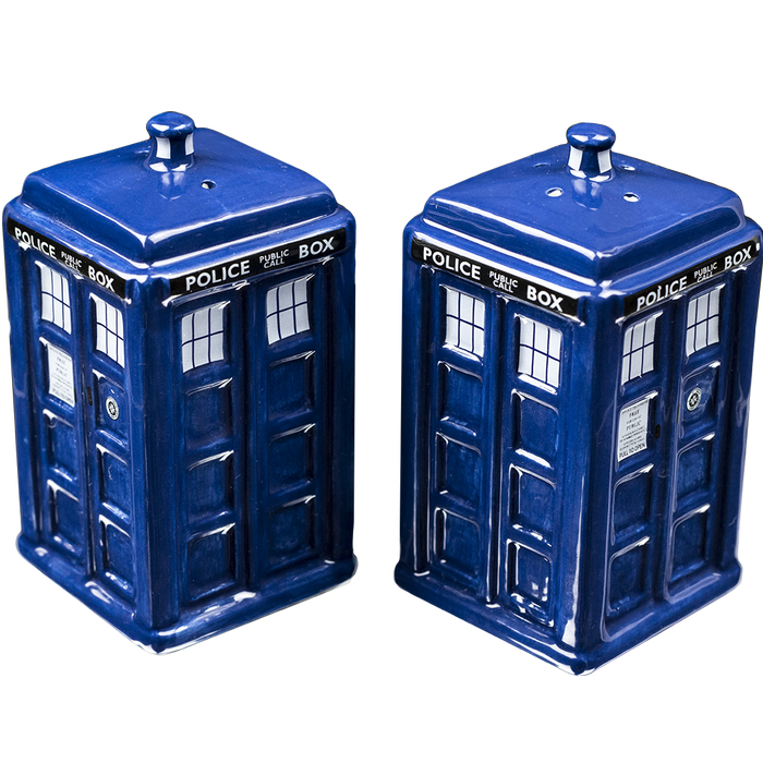Doctor Who Tardis Salt & Pepper Shakers - - Doctor Who - Yellow Octopus