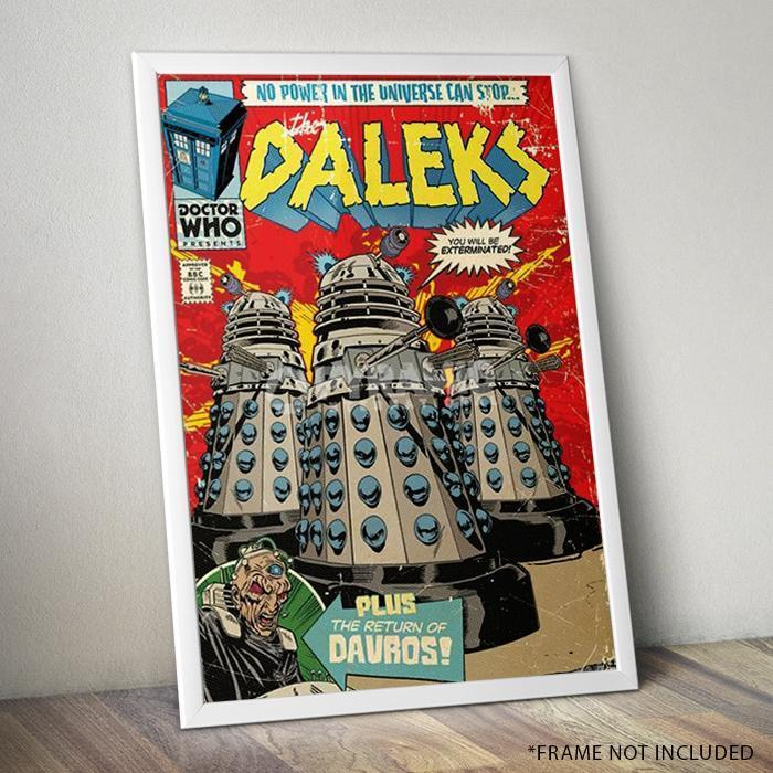 Doctor Who The Daleks Comic Poster 61 x 91cm - - Doctor Who - Yellow Octopus