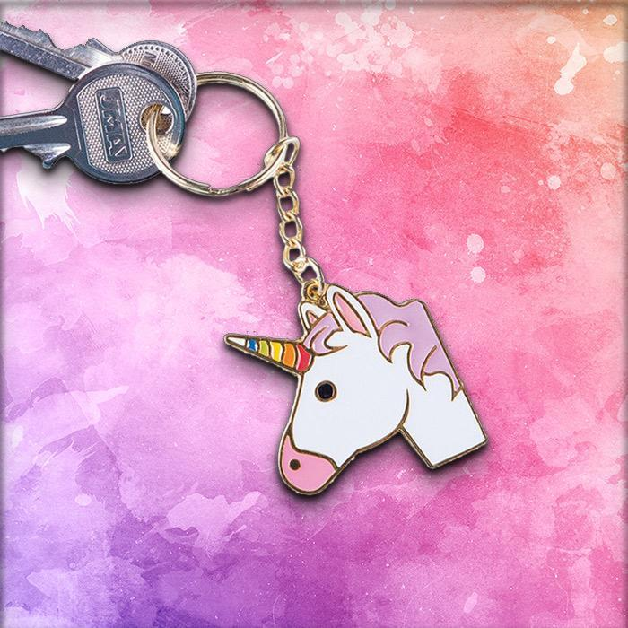 Unicorn Emoji Keyring - - Doiy - Yellow Octopus