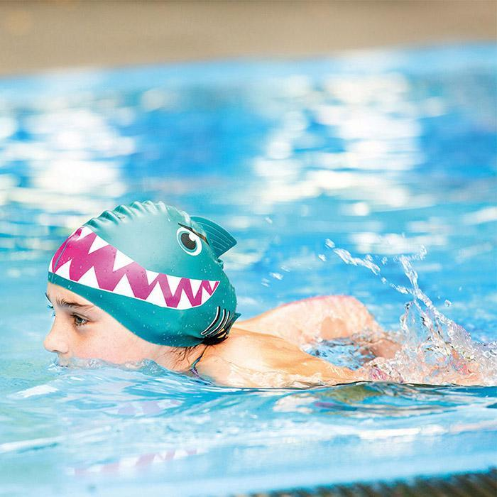 Donkey Products Kids Swimming Caps - Fish & Shark Shark