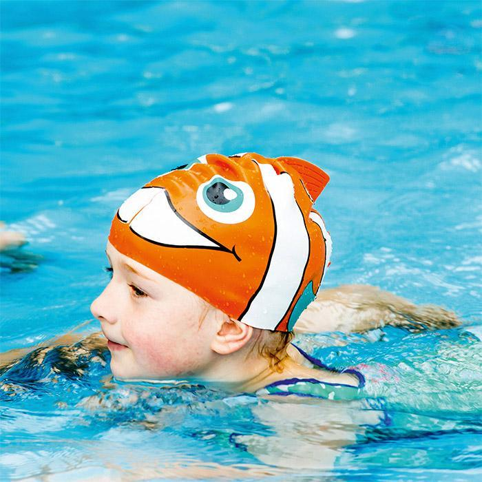 Kids Swimming Caps - Fish & Shark - Fish - Donkey Products - Yellow Octopus