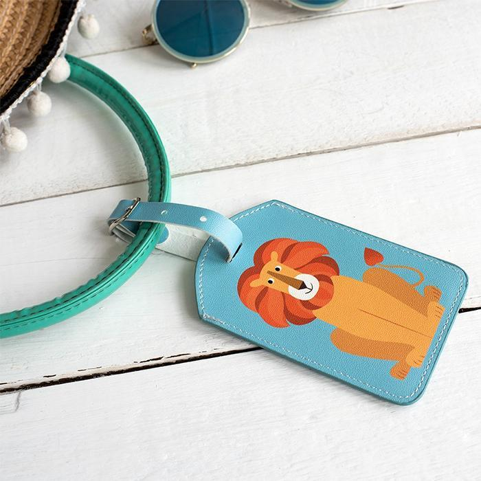 Cute Animal Luggage Tags - Lion - DotComGiftShop - Yellow Octopus
