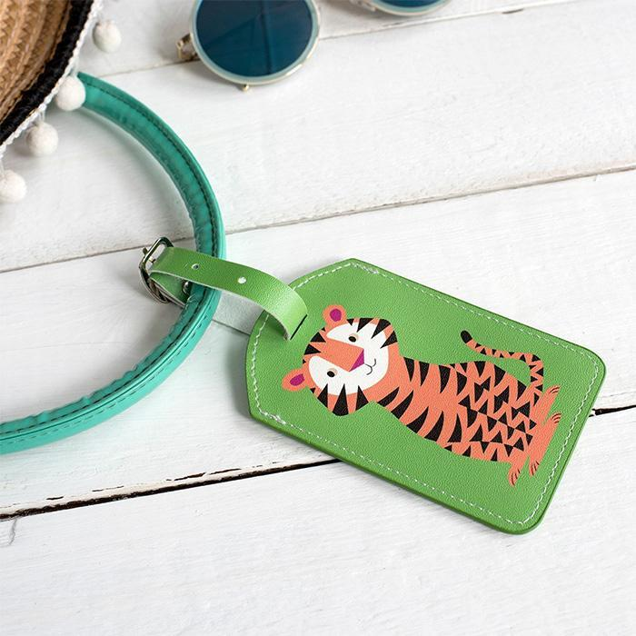 Cute Animal Luggage Tags - Tiger - DotComGiftShop - Yellow Octopus