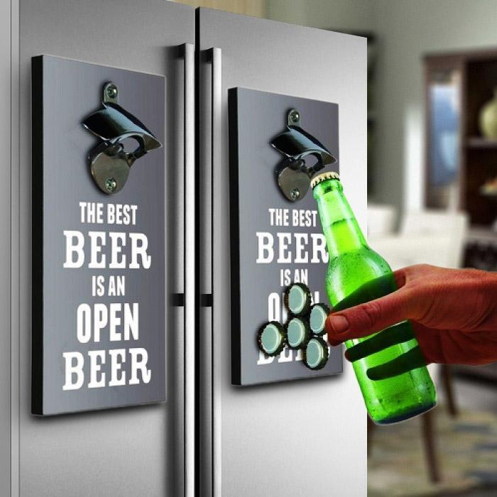 Drink Inc Bottle Opener & Magnetic Top Catcher