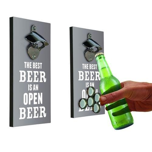 Magnetic Fridge Bottle Opener & Top Catcher - - Drink Inc - Yellow Octopus