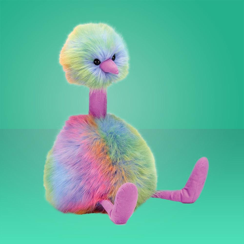 Jellycat Medium Rainbow Pompom Bird - - JellyCat - Yellow Octopus