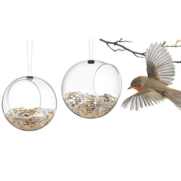 Eva Solo Set of 2 Eva Solo Glass Bird Feeders