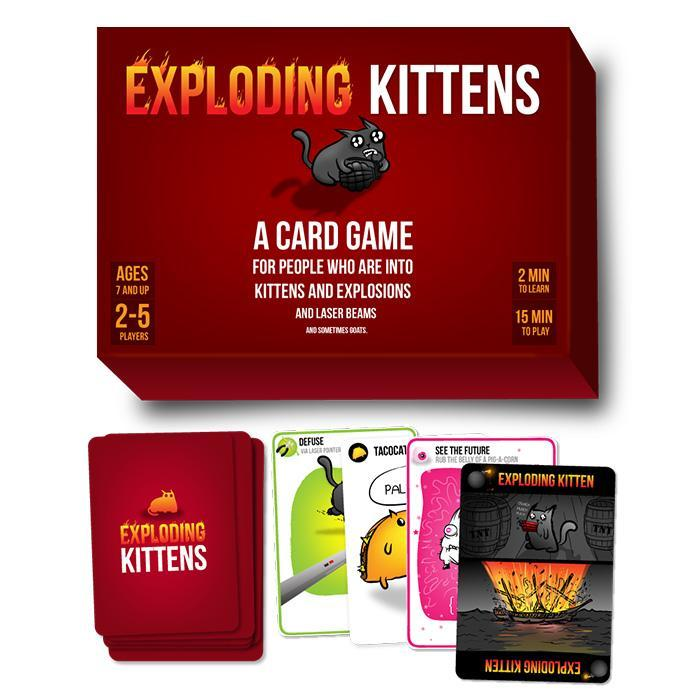 The Infamous Exploding Kittens Card Game - - Exploding Kittens - Yellow Octopus