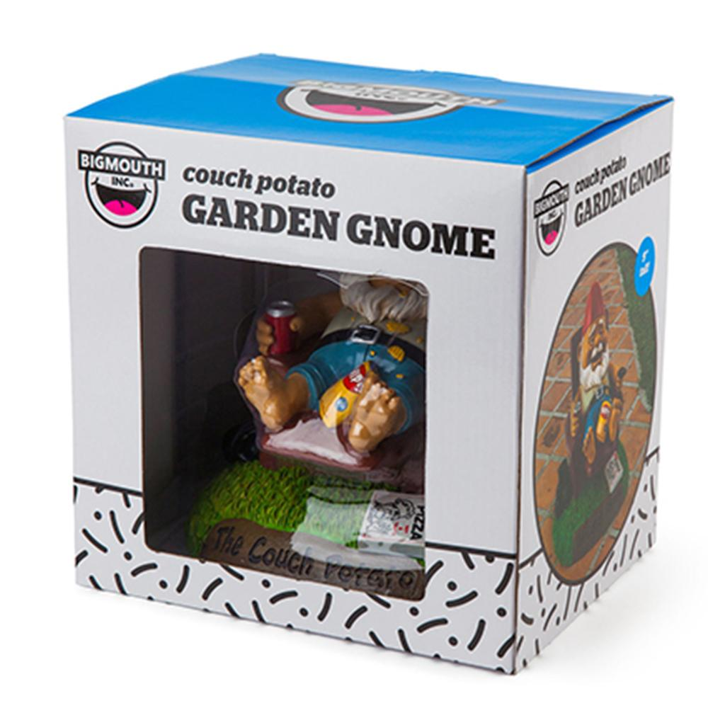 The Couch Potato Garden Gnome - - Big Mouth Inc - Yellow Octopus