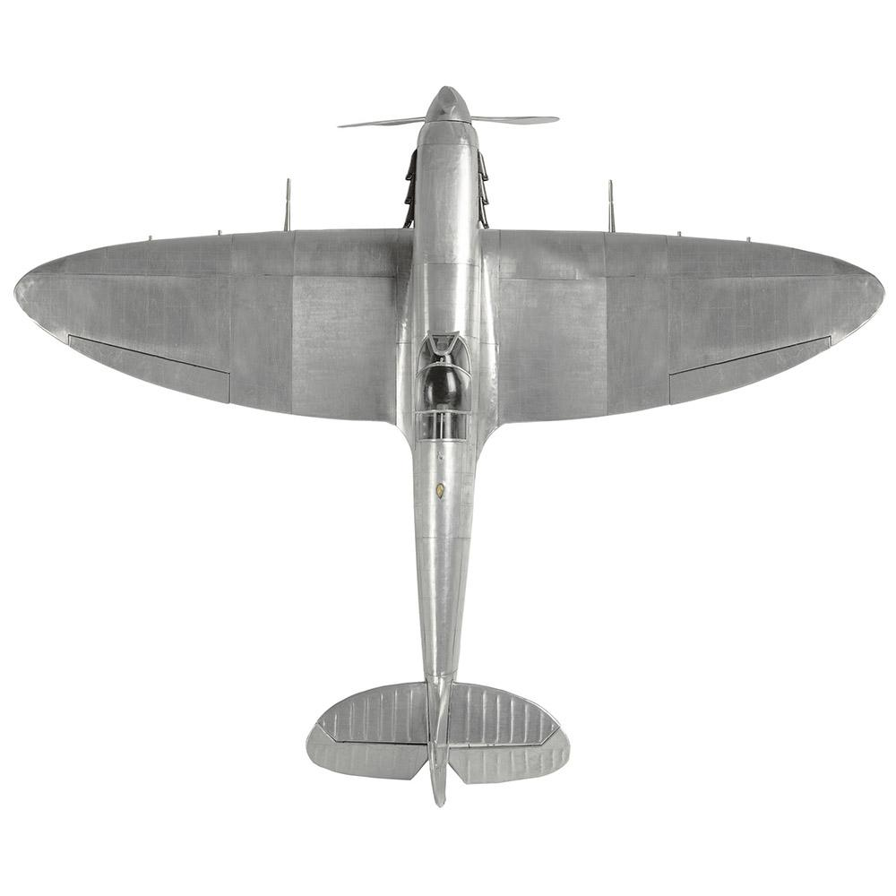Giant Spitfire WWII Metal Fighter Plane Model 75cm - - AM Living - Yellow Octopus