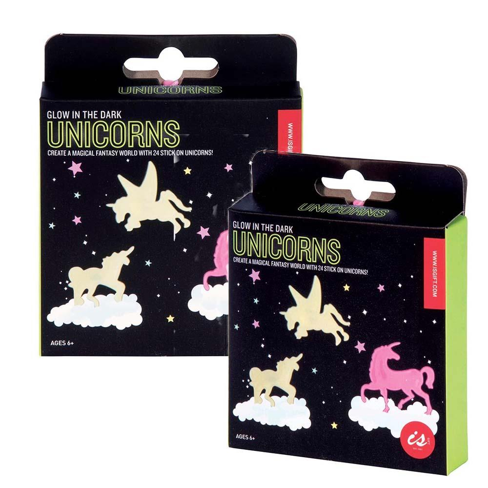 Glow-in-the-Dark Night Light Stickers: Dinosaurs or Unicorns! - Unicorns - IS - Yellow Octopus