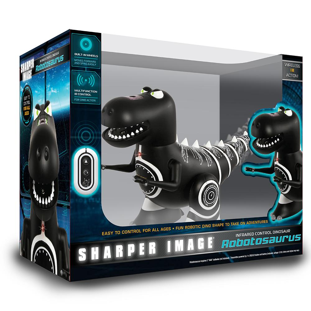 Robotosaurus Mini Remote Controlled Robotic Dinosaur - - Sharper Image - Yellow Octopus