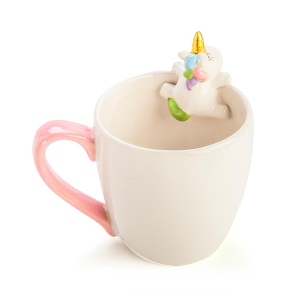 Peeping Unicorn Rainbow 3D Mug