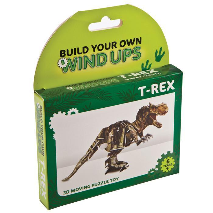 Build Your Own Wind Up T-Rex Dinosaur | Fizz Creations - - Fizz Creations - Yellow Octopus