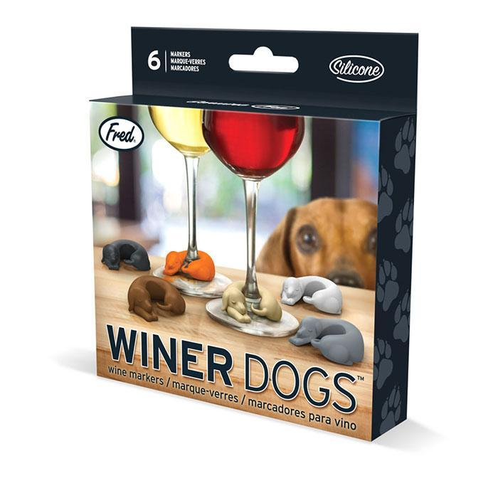 Fred & Friends Winer Dogs Sausage Dog Wine Markers - - Fred & Friends - Yellow Octopus